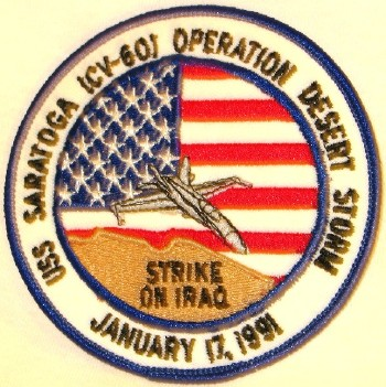 USS Saratoga Operation Desert Storm Patch