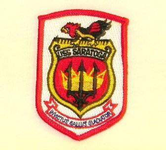USS Saratoga Rooster Crest Patch (SM)