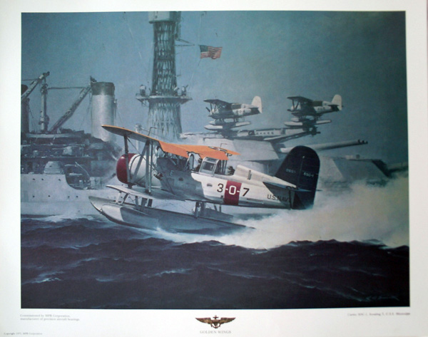 Curtiss SOC-1 Scouting 3 USS Mississippi