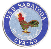 USS Saratoga CVA-60 Fighting Cock Patch