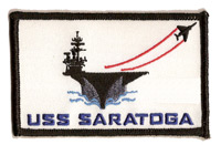 USS Saratoga Ship Outline Patch